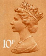 10p Discount GB Postage Stamp